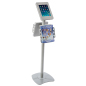 Versatile iPad Kiosk with Literature Holders
