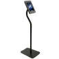 Tablet Pedestal Stand has an Adjustable Tilting and Rotating Bracket