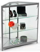 Retail LED Corner Display Case