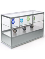 Metal Glass Store Counter with LED Lights