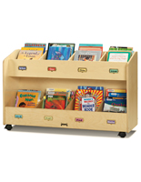 Rolling Childrens Book Storage Cart
