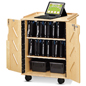 Laptop & Tablet Storage Cart with Locking Door