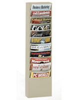 literature rack with 11 pockets