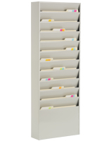 Vertical File Organizer with 11 Pockets