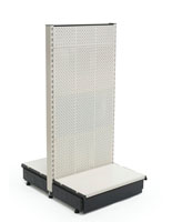 Retail Gondola Shelving with Perforated Panels
