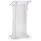 Floor Standing Frosted Portable Lectern