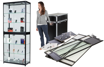 display cabinets with same day shipping