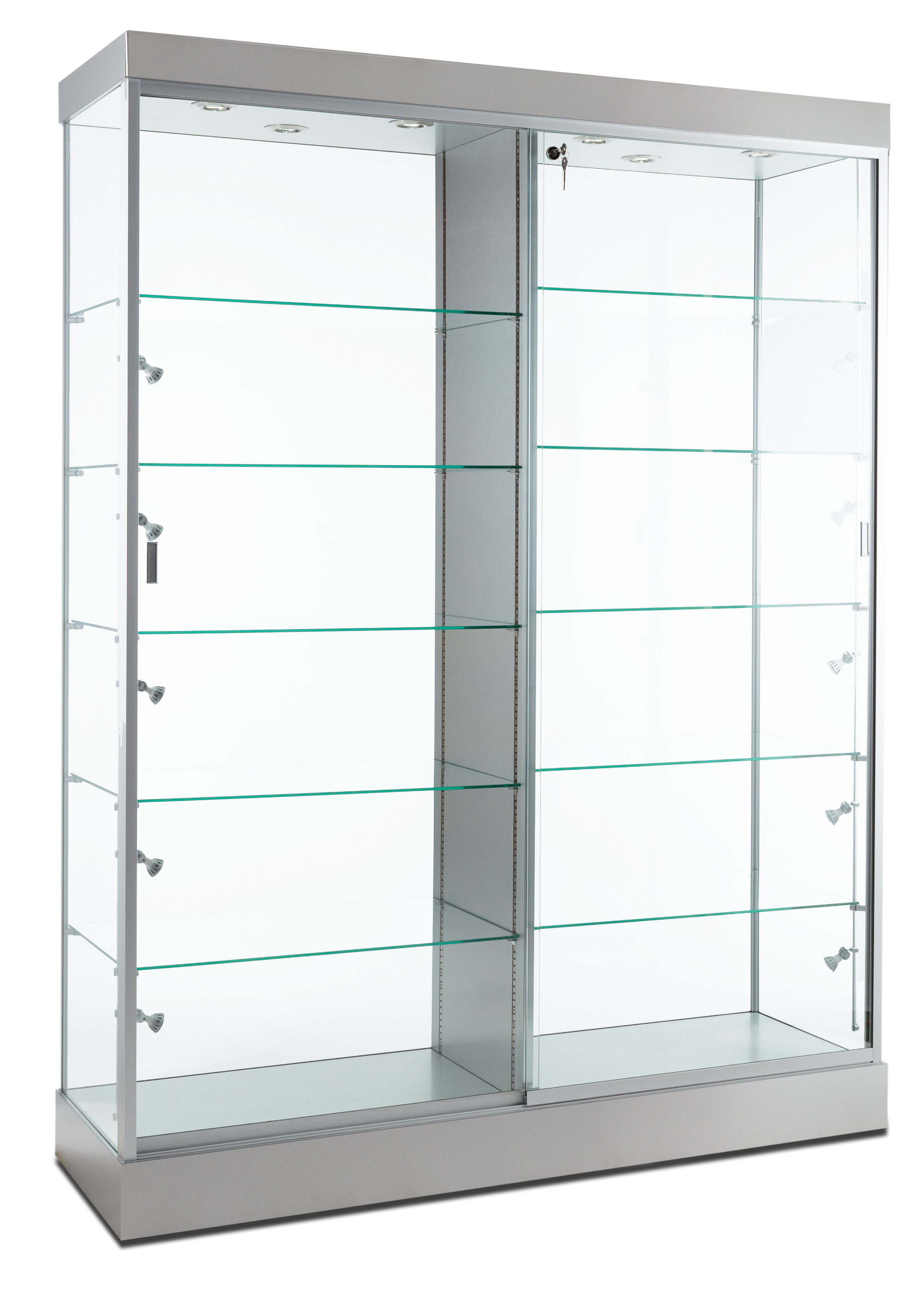 This Silver Trophy Case With Internal Lighting Is Extra