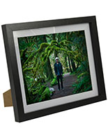 8 x 10 picture frame with removable mat for tabletop or wall black