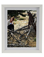 "8.5"" x 11"" Wooden Picture Frame for Wall Mount Use"