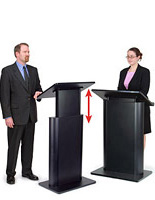Speaker Podium with Variable Height Adjustment