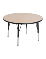Round Preschool Table with Protective Coating