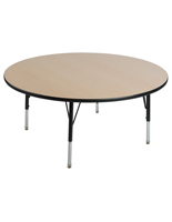 "Round Classroom Table with 48"" Wide Top"