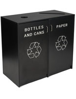 Recycle Receptacle with Black Finish