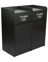 Side By Side Restaurant Waste Receptacles, Quick Setup