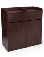 Waste Cabinet  with Mahogany Finish