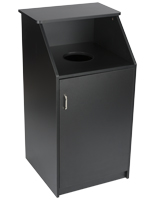 Black Waste Receptacle Enclosure w/ Handle