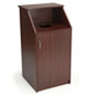 Top Drop Waste Receptacle with Mahogany Finish