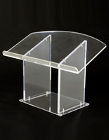 Acrylic Pulpit: Desktop Low Cost Shipping Lectern!