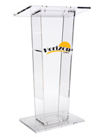 Custom Graphic Transparent Podium, Acrylic