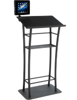 Black iPad Lecture Podium with Locking Enclosure