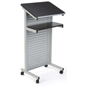 Silver Laptop Presentation Cart