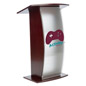 Clear Acrylic Lecture Stand with 2-Color Imprint, Ships Assembled