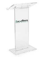 Vinyl Logo Transparent Podium with 2-Color Imprint
