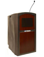 Mahogany Podium with Microphone