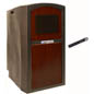 Mahogany Podium with Wireless Microphone
