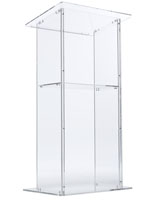 Clear Acrylic Podium, 29.5 Pounds