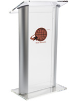 Plastic Lectern with Multi-Color Imprint for Professional Environments