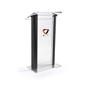 "Clear & Black Podium with 14"" x 14""  Vinyl Imprint Area"