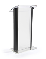 "48"" Tall Acrylic & Black Podium"