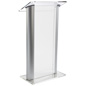Modern Frosted Plastic Lectern
