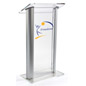Custom Graphic Plexiglass Podium with 4 Rubber Feet