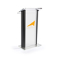 1-Color Custom Modern Clear Podium with Frosted Acrylic