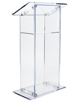 Knock Down Acrylic Lectern