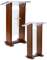 podium pulpit with choice of front panel
