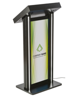 LED Podium with Graphic and PVC Lens