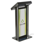 LED Podium with Graphic, Black