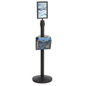 Stanchion w/ Literature Pocket & Sign Holder & Blue Belt – Round Base