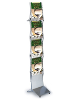 Folding Brochure Stand with Silver Finish