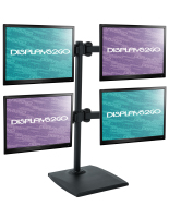 Black Quad Monitor Mount