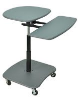 Mobile Laptop Desk w/ 2 Lockable Wheels