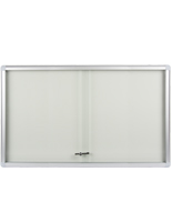 Enclosed Whiteboard With Sliding Doors