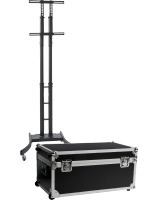 Black Portable TV Stand with Case
