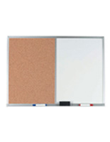 Dry Erase Board with Dual Cork Surface