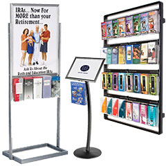 Metal stands and racks for brochures