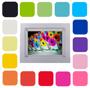 metal colored picture frames bright colored tabletop or wall display framing